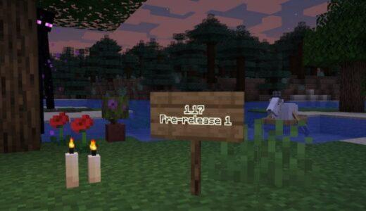 【Minecraft】Java Edition 1.17の最初のプレリリースが公開!【Pre1】